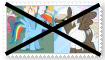 (Request) Anti Rainbow DashXDumb Bell Stamp by SoraRoyals77