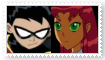 (Request) RobinXStarfire Stamp by SoraRoyals77