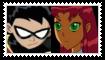 (Request) RobinXStarfire Stamp by KittyJewelpet78