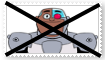 Anti Cyborg (Teen Titans Go) Stamp by SoraJayhawk77