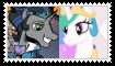 Good King SombraXPrincess Celestia Stamp by KittyJewelpet78