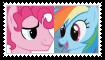 (Request) Rainbow DashXBubble Berry Stamp by SoraJayhawk77