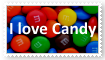I love Candy Stamp
