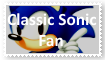 Classic Sonic Fan Stamp by SoraRoyals77
