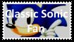 Classic Sonic Fan Stamp by SoraJayhawk77