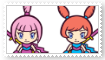 Kat and Ana Stamp by KittyJewelpet78