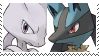 Mewtwo X Lucario Stamp by SoraRoyals77