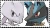 Mewtwo X Lucario Stamp by SoraJayhawk77