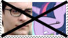 Anti Peter PakerXTwilight Sparkle Stamp by KittyJewelpet78