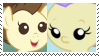 (Request) Pound Cake X Cream Puff Stamp by KittyJewelpet78
