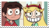 Marco Diaz and Star Butterfly Stamp by KittyJewelpet78