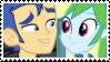 (Request) Flash Sentry X Rainbow Dash Stamp by SoraJayhawk77