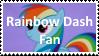 (Request) Rainbow Dash fan Stamp by SoraJayhawk77