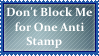 (Request) Don't Block Me for One Anti Stamp by KittyJewelpet78