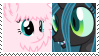 (Request) Queen Chrysalis X Fluffle Puff Stamp by KittyJewelpet78