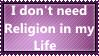 I don't need Religion by KittyJewelpet78