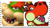 (Request) Bowser X Hooktail Stamp by KittyJewelpet78