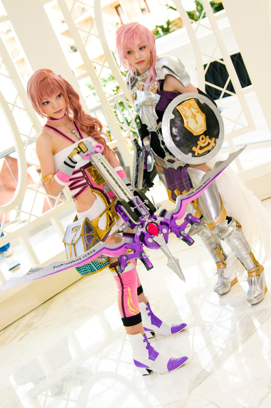 Serah Farron and Lightning, Final Fantasy XIII-2 by EminenceRain