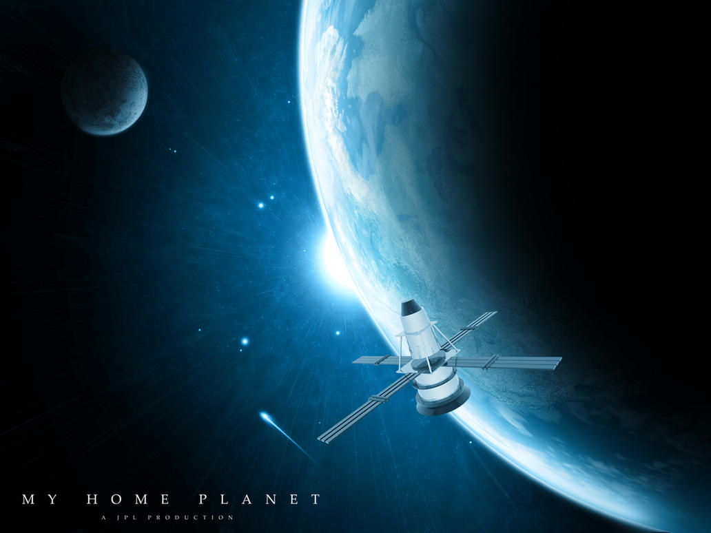 MY HOME PLANET WALLPAPER by cubicthree