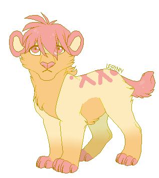 Saber-tooth cub adoptable open by Phed-adopts