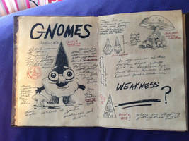Gravity Falls Journal: Gnome page