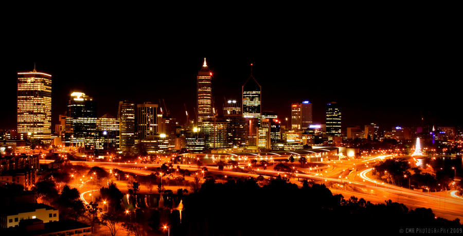 Perth at Night - Panoramic by autoclavicle