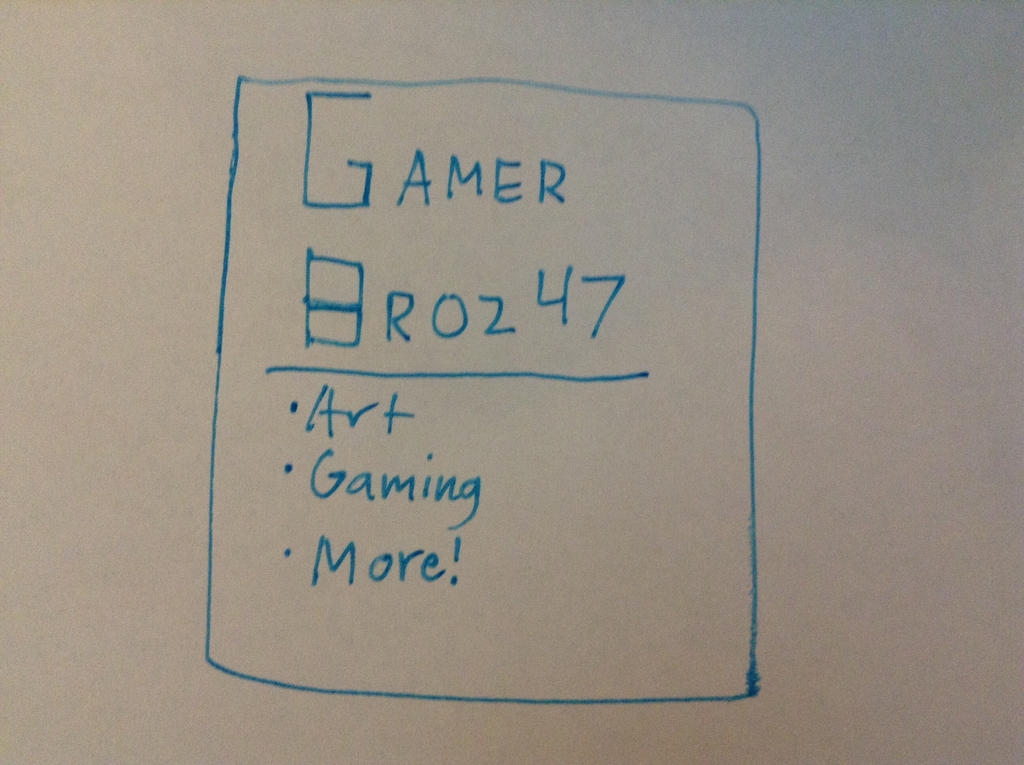 This might be my new logo by Gamerbroz47