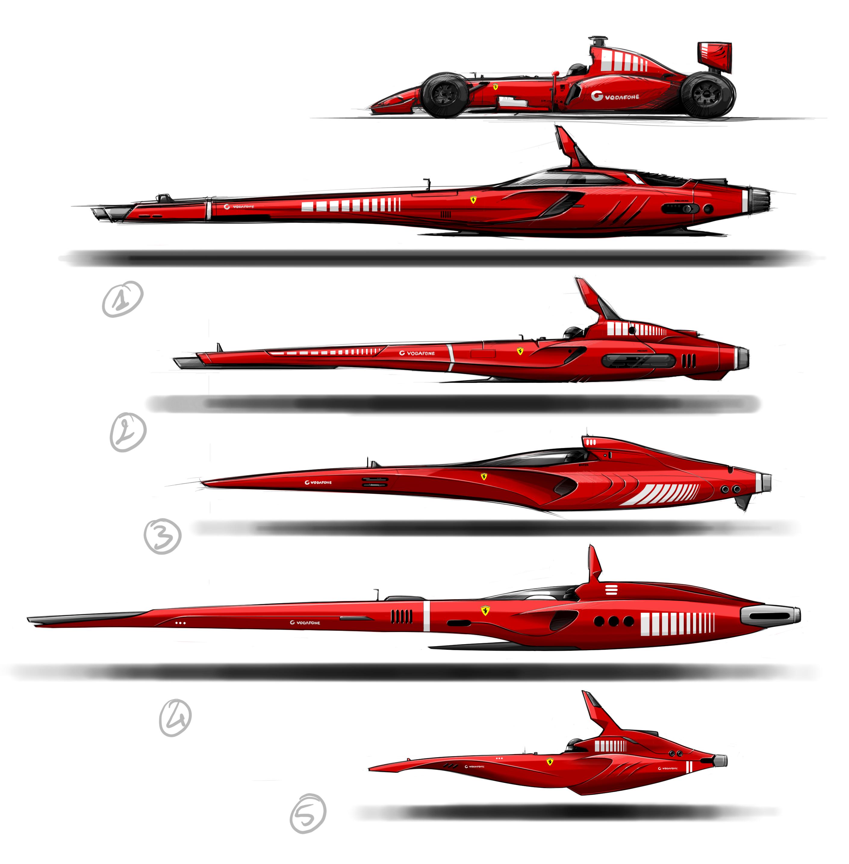 Spaceship ferrari