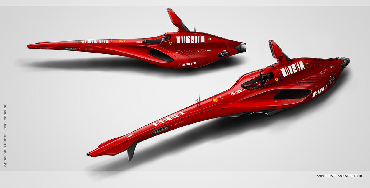 Spaceship ferrari - final by Vincent-Montreuil on DeviantArt