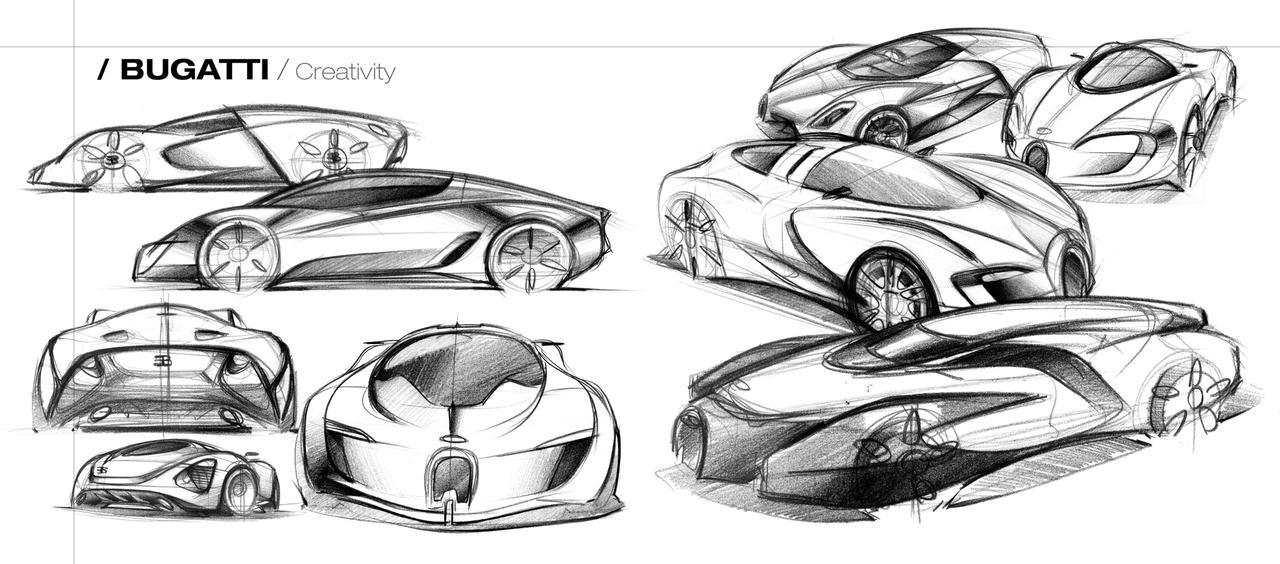 how to draw a car bugatti veyron