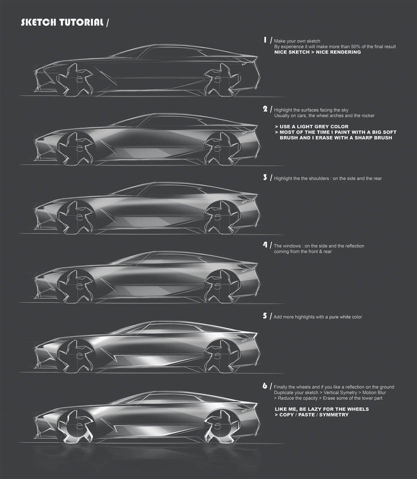Car Sketch Tutorial by Vincent-Montreuil
