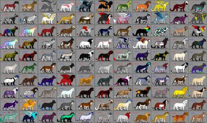 Feline ocs (some breedable)