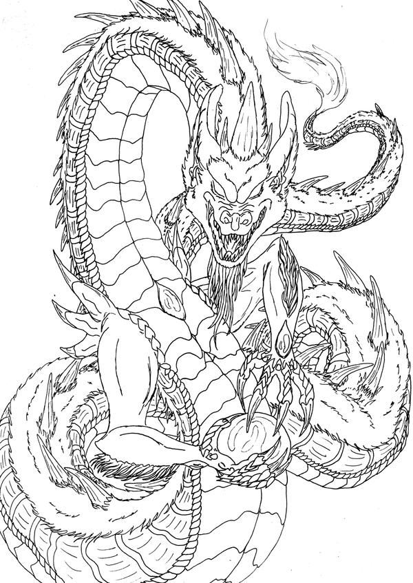 Lineart: creature by kxeron