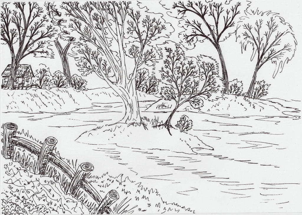 kids coloring pages scenery painting - photo#28