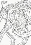 Lineart: Asian dragon