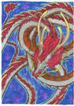 White asian dragon