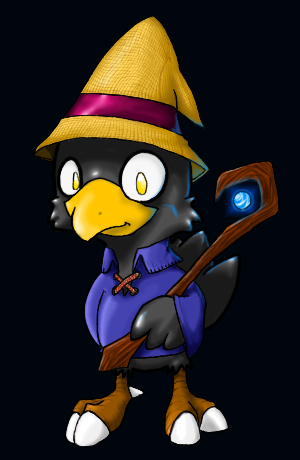Black Mage Chocobo - Colored by McSterv