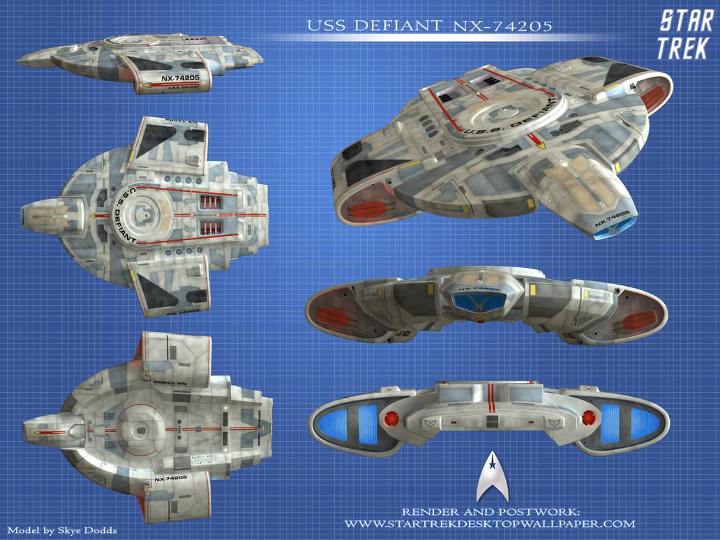Star Trek USS Defiant Wallpaper by KablemHero ...