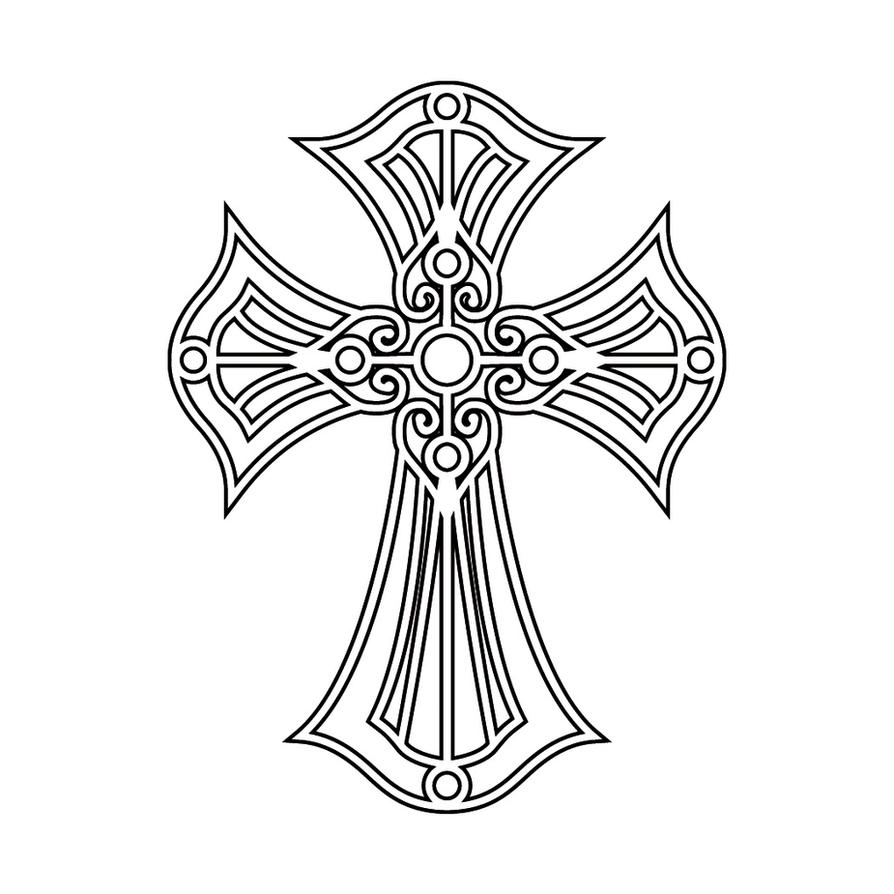 Cross Tattoo Line Drawing : Cross tattoo version one by sythe on deviantart