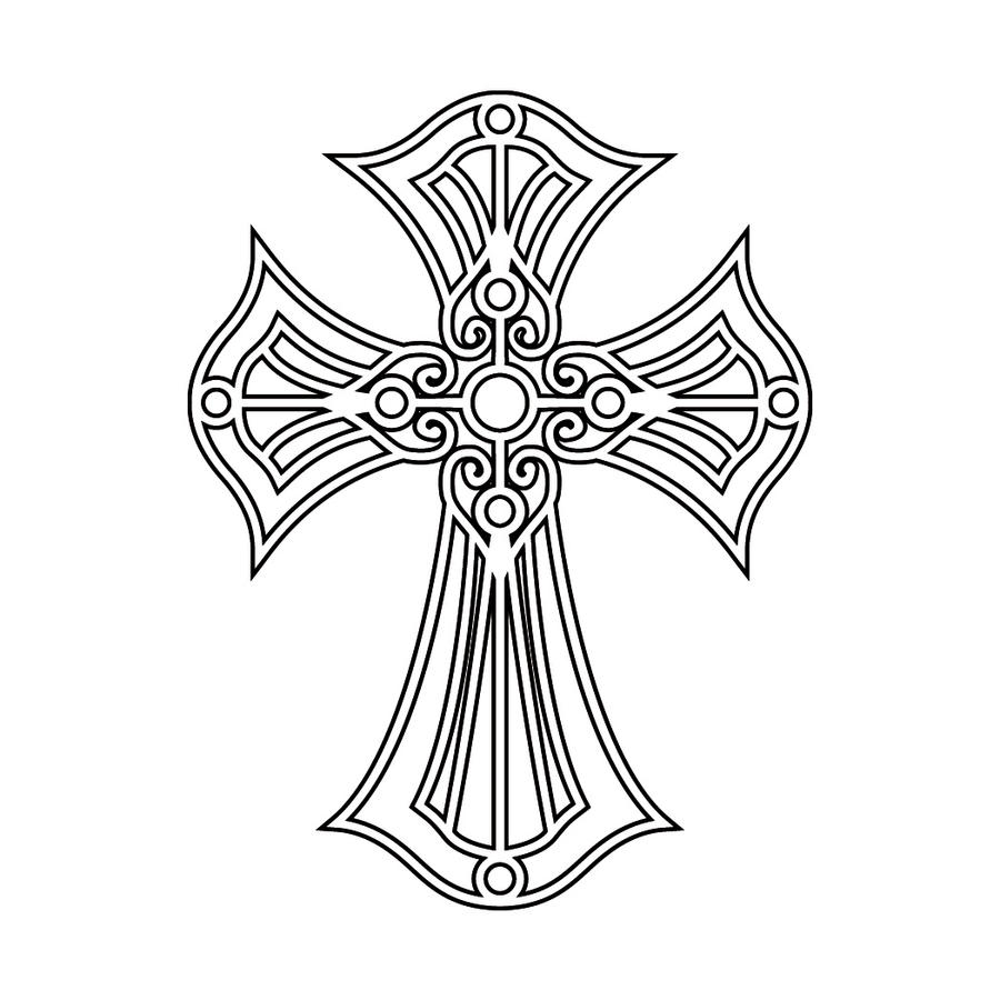 Cross Tattoo Line Drawing : Pretty drawings of crosses imgkid the image