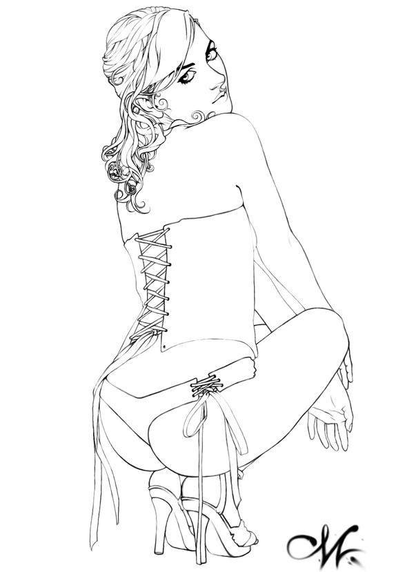 Line Art: A Rose... by Sythe01