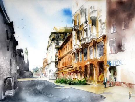 Polish old city streets.