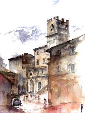 Cortona, Italy by Zawij