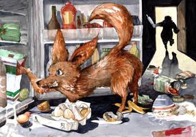 It is the foxy fennec who purged whole fridge by Zawij