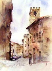 Arezzo oldtown, Italy by Zawij