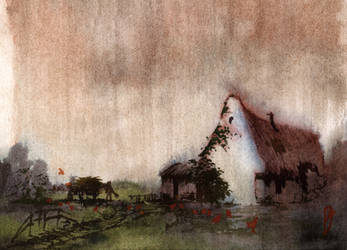 creepy country cottage by Zawij