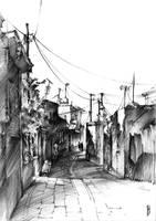 Rhodes backalley by Zawij