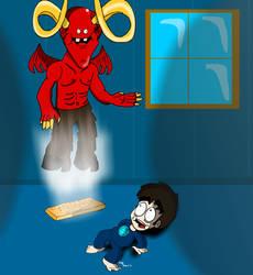 Leo n Satan by G-reaper22618