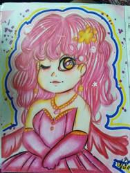 Pink angel by ValeChY