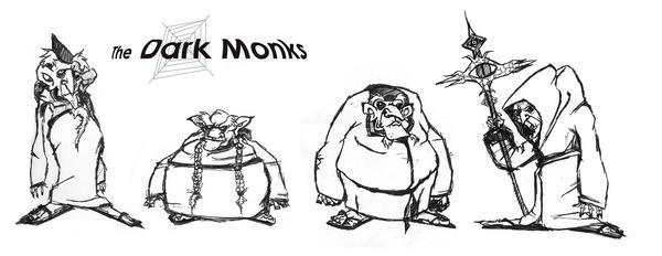 The Dark Monks by ClownDomain